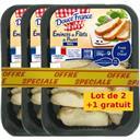Douce France Emincés de filets de poulet rôtis le lot de 2 barquettes de 200 g