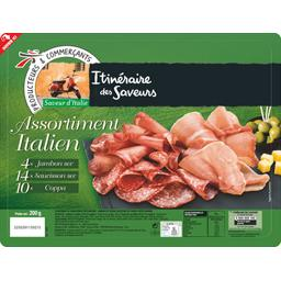 Assortiment Italien jambon sec, saucisson sec et cop...