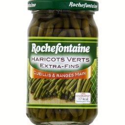 "Haricots verts ""extra fins"", cueillis et rangés à la..."