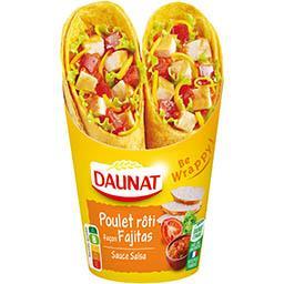 Be Wrappy ! - Wrap poulet rôti façon Fajitas sauce s...