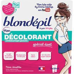 Blondépil Mon Décolorant spécial duvet peaux sensibles les 2 tubes de 25 ml