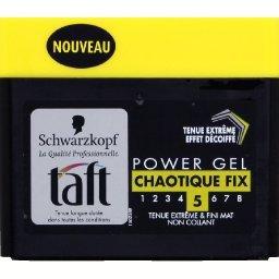 Taft - Power gel chaotique Fix, tenue extrême 5 & fini mat