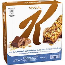 Special K - Barres avec du chocolat au lait Belge