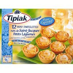 12 mini tartelettes de St jacques,la boite,TIPIAK,