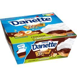 Danette - Dessert lacté Le Liégeois chocolat lit cro...
