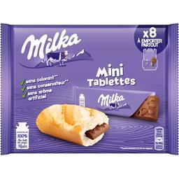Mini tablettes chocolat au lait