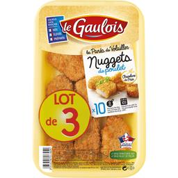 Le Gaulois Nuggets de poulet le lot de 3 barquettes de 200 g