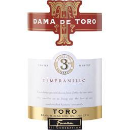 Toro Tempranillo, vin rouge