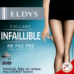 Collant perfect infaillible noir voile lycra 20D - T2