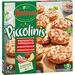 Piccolinis - Mini pizzas jambon fromage