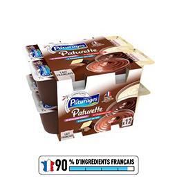 Crème dessert chocolat blanc/chocolat noir/chocolat ...