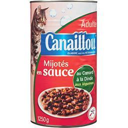 Mijotés en sauce au canard, dinde aux légumes pour c...