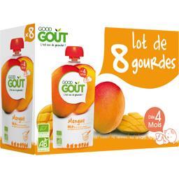 Good Goût Compote mangue BIO, dès 4 mois les 8 gourdes de 120 g