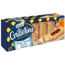 Pasquier Les Grilletines - Tartines grillées froment sans suc... la boite de 255 g