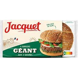 Pain Burger Géant aux 3 graines