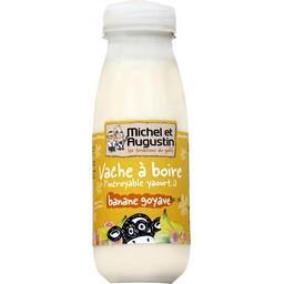 Yaourt Vache à boire banane goyave
