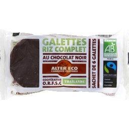 Galettes de riz complet au chocolat noir BIO