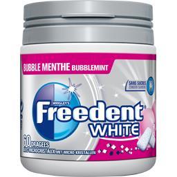 White - Chewing-gums Bubble menthe sans sucres