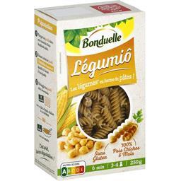 Légumiô Pasta - Pâtes aux pois chiches et maïs