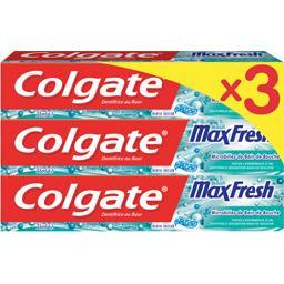 Colgate Max Fresh - Dentifrice au fluor menthe frisson les 3 tubes de 75 ml