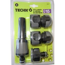 Kit 5 pièces avec lance diam 15 mm