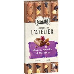 Les Recettes de L'Atelier - Chocolat au lait raisins...