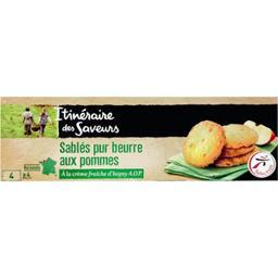 Sablés pur beurre aux pommes à la crème fraîche d'Is...