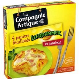 Paniers feuilletés Leerdamer et jambon