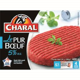 Steaks hachés Le Pur Bœuf 5% MG