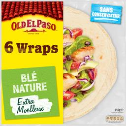 Old El Paso Wraps de blé nature