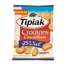Croûtons croustillants nature -25% de sel