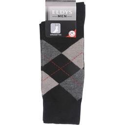 Mi-chaussette intarsia noir homme t39/42