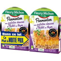 Fleury Michon Parmentier aux patates douces et poulet au thym les 2 barquettes de 300 g