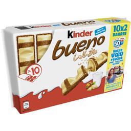 Kinder Bueno - Barres chocolatées White les 10x2 pièces - 390 g