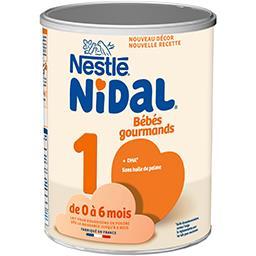 Nidal - Lait en poudre 1 Bébés Gourmands, de 0 à 6 m...
