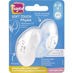 Sucette physio silicone Smart 6-18 mois
