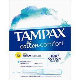 Tampons Cotton Comfort Régulier avec applicateur