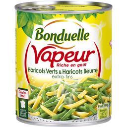 Bonduelle Vapeur - Haricots verts & haricots beurre extra-fins la boite de 440 g net égoutté