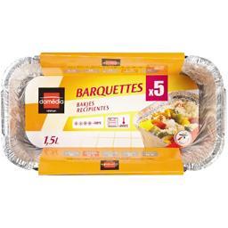 Barquettes aluminium 1,5 l