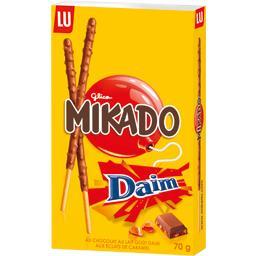 Mikado - Biscuits nappés chocolat lait goût daim écl...