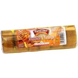 Nonnettes au miel (21%) fourrées à l'orange