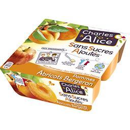 Charles & Alice Spécialité de pommes-abricots Bergeron s/sucres ajou...