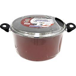 Marmite 28 cm acier émaillé, rouge