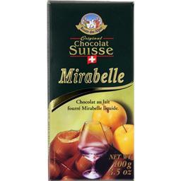 Chocolat au lait fourré Mirabelle liquide