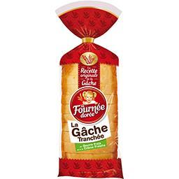Brioche La Gâche tranchée, beurre frais et crème fra...