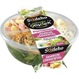 Sodebo Salade tartinable ail et fines herbe jambon emmental la barquette de 240 g