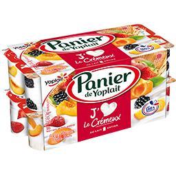 Yaourt sucré Le Crémeux fraise, abricot pêche, mûre