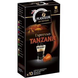 Planteur des Tropiques Capsules de café moulu Espresso Tanzanie 3 la boite de 10 capsules - 52 g