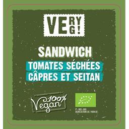 Sandwiches BIO farcis à la sauce riz, seitan, tomates