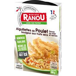 Monique Ranou Aiguillettes de poulet sauce au miel et épices boulg... la barquette de 380 g